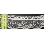 Puntilla nylon beis con pasacintas 4cm