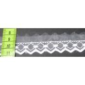 Puntilla cristal blanca 2 cm
