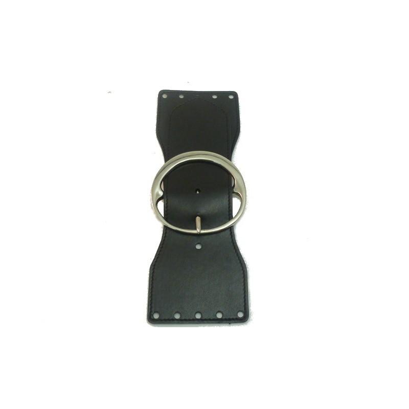 Cierre de bolso piel negro 23mm