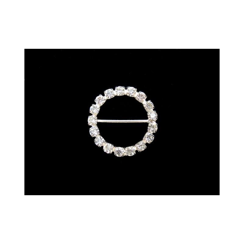 Hebilla pedrería circular 2 cm
