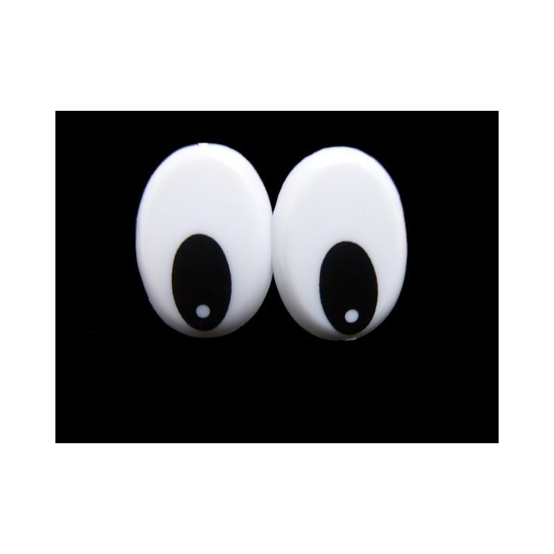 Ojos de seguridad 2,3 x 1,6 cm
