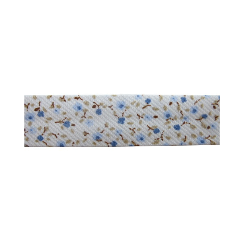 Bies - flores azul/camel (18 mm)