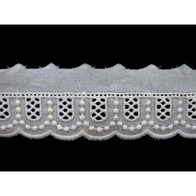 Tira bordada blanca 2,3 cm
