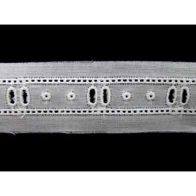 Tira bordada blanca 1,3 cm
