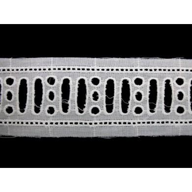 Tira bordada blanca 3,5 cm