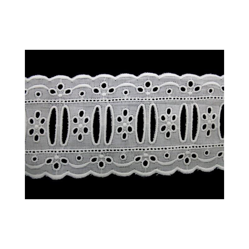 Tira bordada blanca 6,5 cm