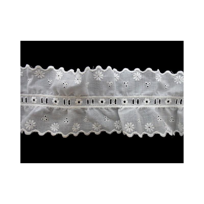 Tira bordada blanca 8,3 cm