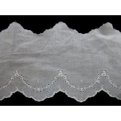 Tira bordada blanca 6 cm