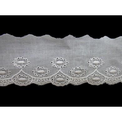 Tira bordada blanca 2,5 cm