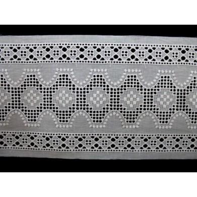 Tira bordada blanca 8,5 cm