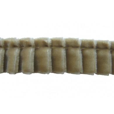 Plisado terciopelo camel 16 mm