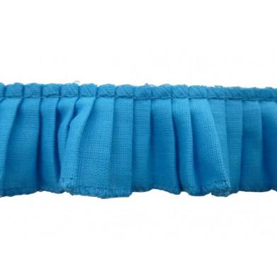 Plisado algodon azul 3 cm