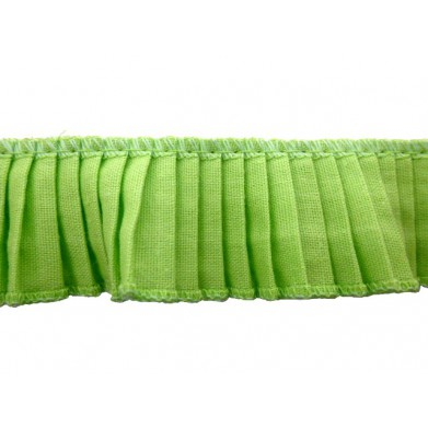 Plisado algodon verde lima...