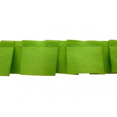 Plisado tablas verde lima 2 cm