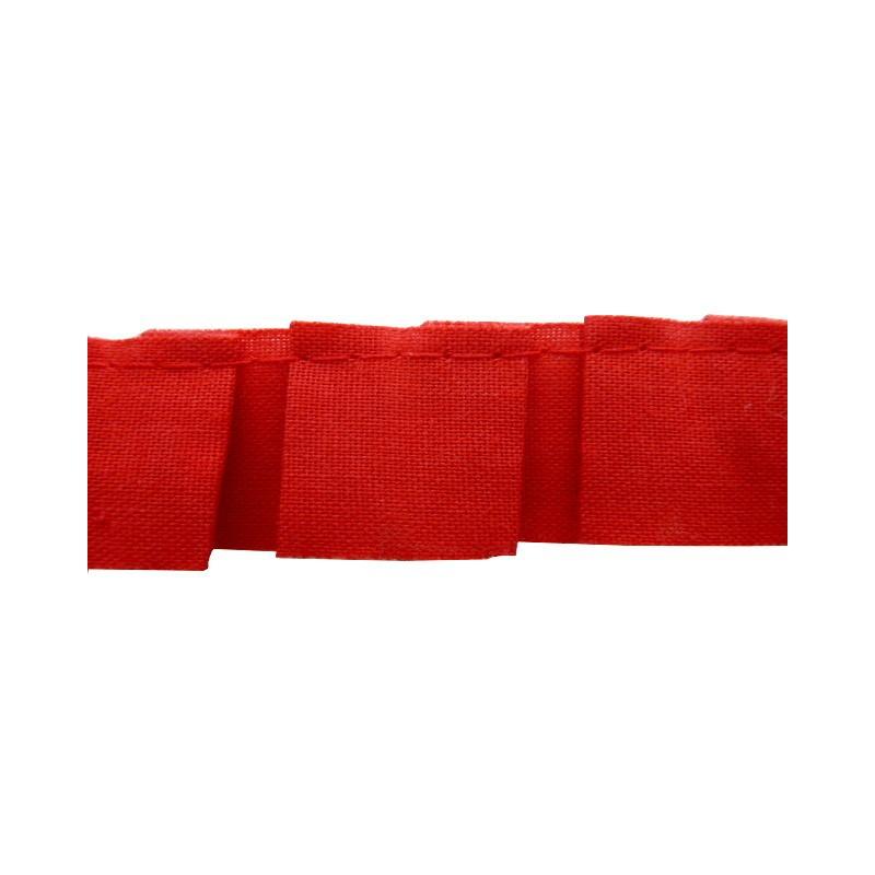 Plisado tablas rojo 2 cm