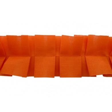 Plisado tablas naranja 4 cm