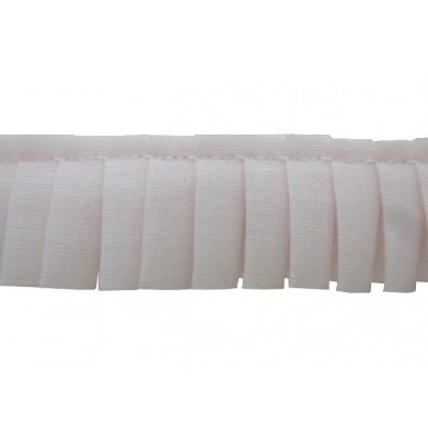 Plisado algodon rosa palo 2 cm