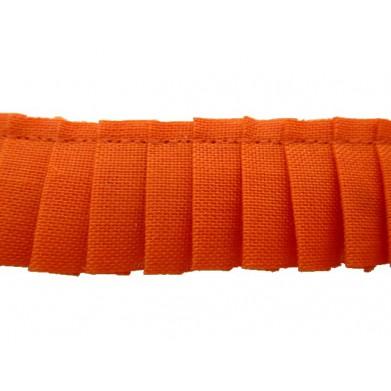 Plisado algodon naranja 2 cm