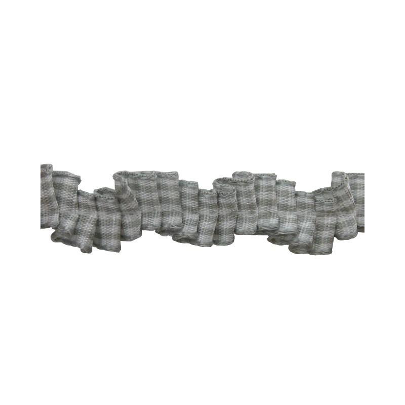 Plisado zig-zag vichi gris 1 cm