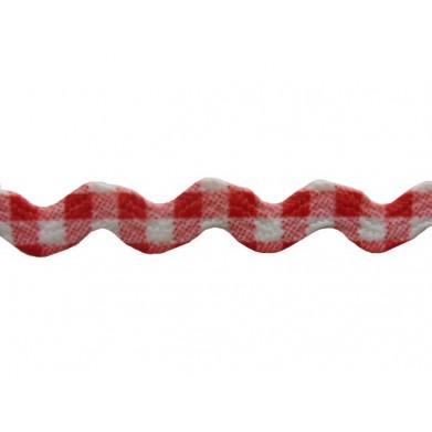 Zig zag vichi rojo/blanco 8 mm
