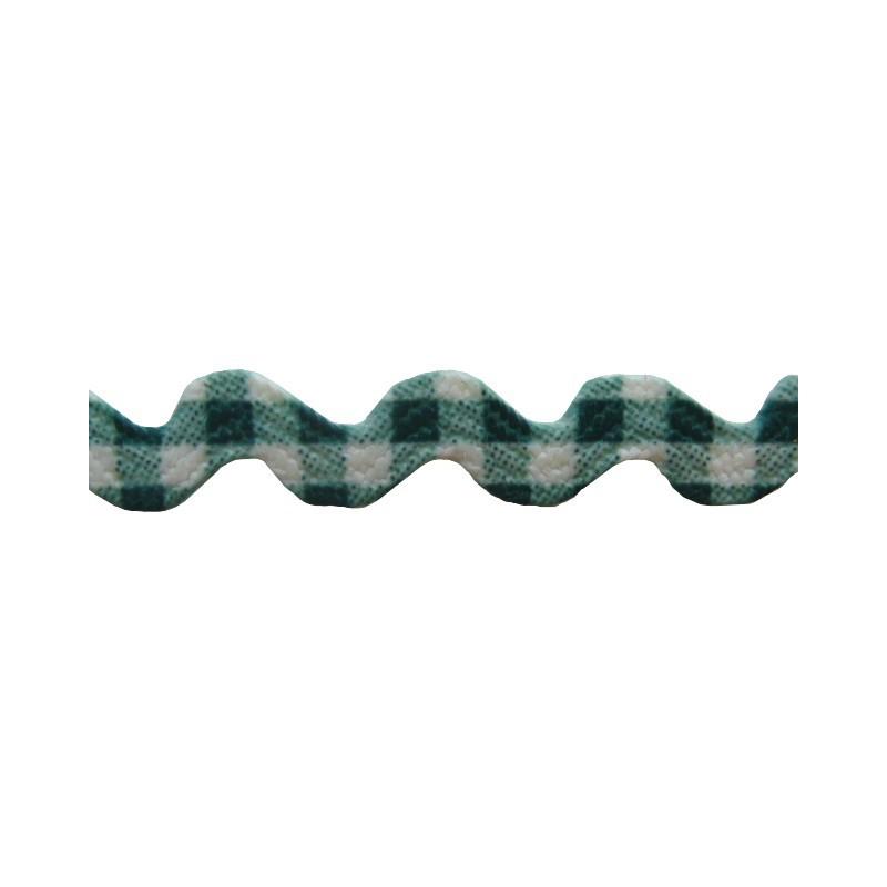 Zig zag vichi verde/blanco 8 mm