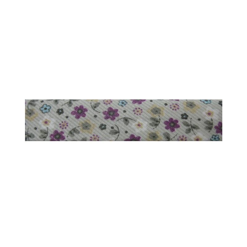 Bies flores beige y violeta (18 mm)