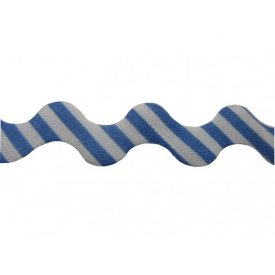 Zig zag rayas azul/blanco