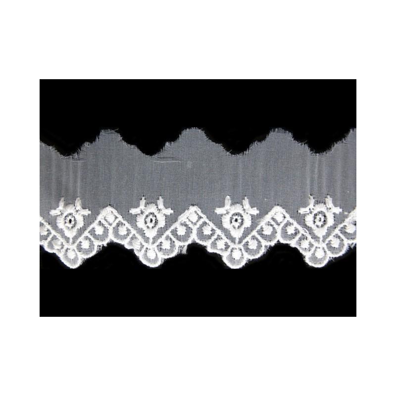 Puntilla cristal beige 3,5 cm