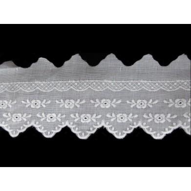 Tira bordada blanca 5,5 cm